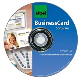 Software Card Designer 1 CD Rom + Handbuch + 200 Visitenkarten Sigel SW670 Produktbild