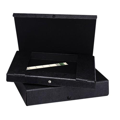 Dokumentenmappe mit Druckknopf A4 35mm schwarz Hartpappe Elba 400000994 Produktbild Additional View 1 L
