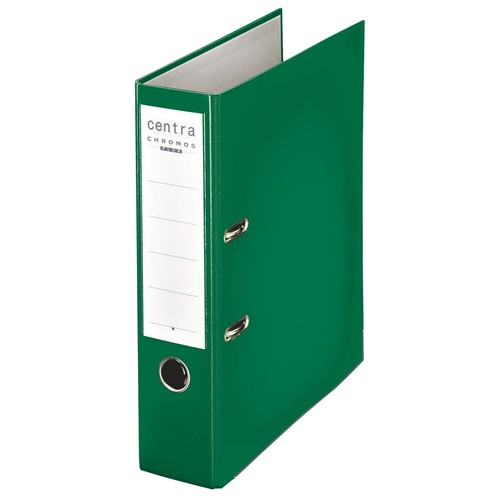 Ordner Chromos A4 80mm grün Kunststoff Centra 230134 Produktbild