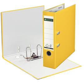 Ordner 1010 A4 80mm gelb Kunststoff Leitz 1010-50-15 Produktbild