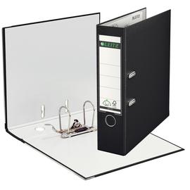 Ordner 1010 A4 80mm schwarz Kunststoff Leitz 1010-50-95 Produktbild