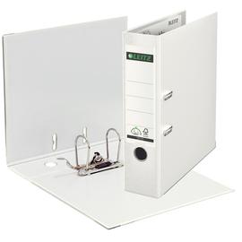 Ordner 1010 A4 80mm weiß Kunststoff Leitz 1010-50-01 Produktbild