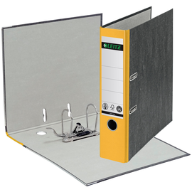 Ordner 1080 A4 80mm gelb Pappe Leitz 1080-50-15 Produktbild