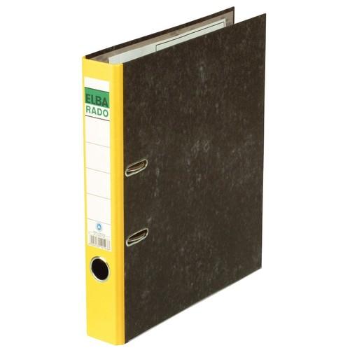 Ordner Rado A4 50mm gelb Pappe Elba 100022595 Produktbild