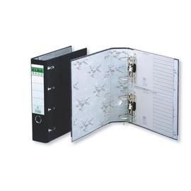Doppelordner A4 für 2x A5 75mm schwarz Pappe Elba 100551836 Produktbild