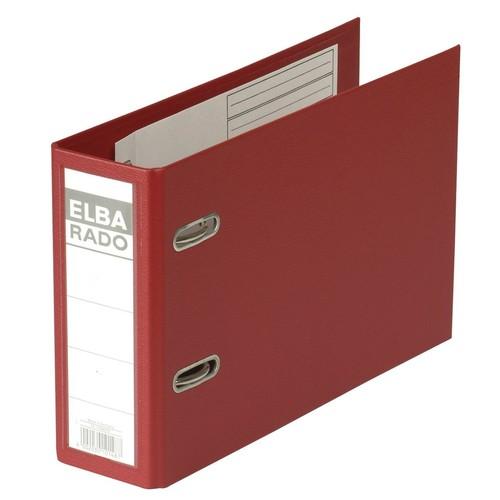 Ordner Rado Plast A5 quer 80mm rot Kunststoff Elba 100022637 Produktbild