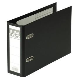 Ordner Rado Plast A5 quer 80mm schwarz Kunststoff Elba 100022638 Produktbild