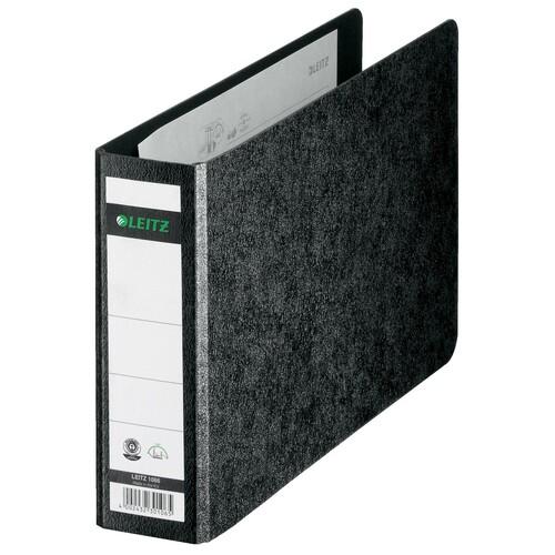 Ordner A5 quer 56mm schwarz Pappe Leitz 1066-00-00 Produktbild