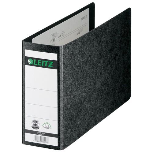 Ordner A5 quer 77mm schwarz Pappe Leitz 1076-00-00 Produktbild
