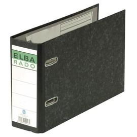 Ordner Rado A5 quer 80mm schwarz Pappe Elba 100202209 Produktbild