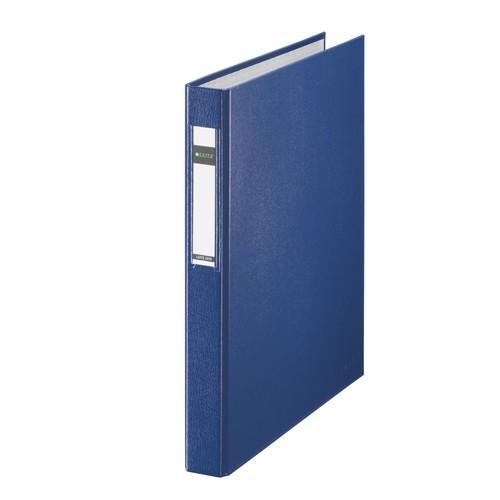 Ringbuch Standard A4 2Ringe Ringe-Ø25mm bis 250Blatt blau PP-Folie Leitz 4210-00-35 Produktbild Front View L