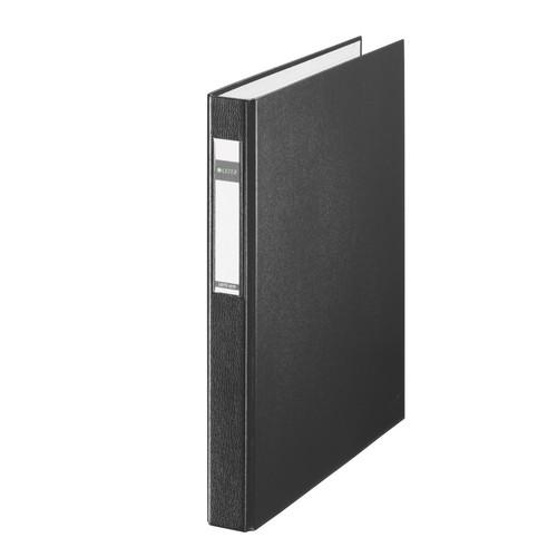 Ringbuch Standard A4 2Ringe Ringe-Ø25mm bis 250Blatt schwarz PP-Folie Leitz 4210-00-95 Produktbild Front View L