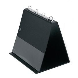 Tisch-Flip-Chart Aufstellringbuch mit 10 Hüllen A4 quer 4Ringe Ringe-Ø20mm schwarz PVC Veloflex 4101080 Produktbild