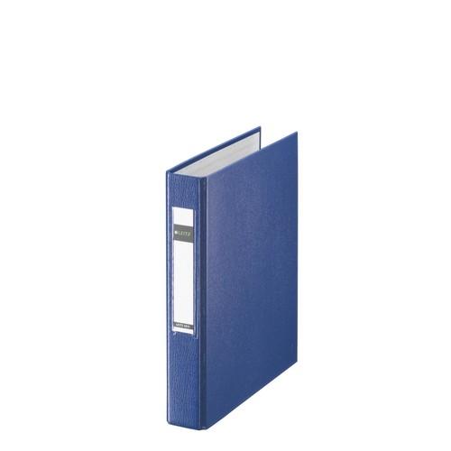Ringbuch Standard A5 2Ringe Ringe-Ø25mm bis 250Blatt blau PP-Folie Leitz 4213-00-35 Produktbild Front View L