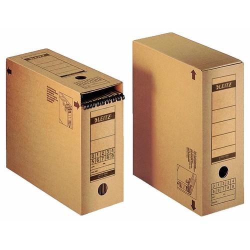 Premium Archiv-Schachtel mit Verschlusslasche 120x275x325mm Leitz 6086-00-00 Produktbild Front View L