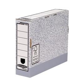 Ablagebox FastFold 315x260x80mm grau/weiß Fellowes 1080001 Produktbild