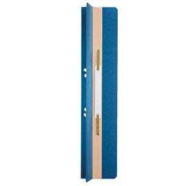 Einhänge-Heftrücken mit Heftfalz mit Kunststoff-Deckschiene 60x305mm blau Karton Leitz 3726-00-35 (PACK=25 STÜCK) Produktbild