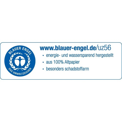 Einhänge-Heftrücken mit Heftfalz mit Kunststoff-Deckschiene 60x305mm blau Karton Leitz 3726-00-35 (PACK=25 STÜCK) Produktbild Additional View 1 L