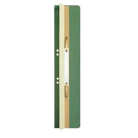 Einhänge-Heftrücken mit Heftfalz mit Kunststoff-Deckschiene 60x305mm grün Karton Leitz 3726-00-55 (PACK=25 STÜCK) Produktbild