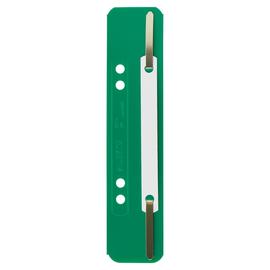 Einhänge-Heftstreifen kurz mit Kunststoff-Deckschiene 35x158mm grün PP Leitz 3710-00-55 (PACK=25 STÜCK) Produktbild