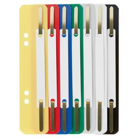 Einhänge-Heftstreifen kurz mit Kunststoff-Deckschiene 35x158mm sortiert PP Leitz 3710-00-99 (KTN=250 STÜCK) Produktbild