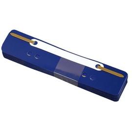 Einhänge-Heftstreifen kurz mit Kunststoff-Deckschiene 34x150mm blau PP BestStandard (PACK=25 STÜCK) Produktbild