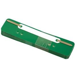 Einhänge-Heftstreifen kurz mit Kunststoff-Deckschiene 34x150mm grün PP BestStandard (PACK=25 STÜCK) Produktbild