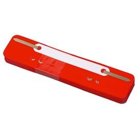 Einhänge-Heftstreifen kurz mit Kunststoff-Deckschiene 34x150mm rot PP BestStandard (PACK=25 STÜCK) Produktbild