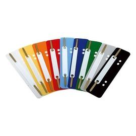 Einhänge-Heftstreifen kurz mit Kunststoff-Deckschiene 34x150mm hellblau PP BestStandard (PACK=25 STÜCK) Produktbild