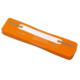 Einhänge-Heftstreifen kurz mit Kunststoff-Deckschiene 34x150mm orange PP BestStandard (PACK=25 STÜCK) Produktbild