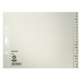 Register A-Z A4 halbe Höhe überbreit 240x180mm grau Papier Leitz 1210-00-85 Produktbild