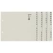 Registerserie A4 halbe Höhe überbreit A-Z 240x200mm für 4 Ordner grau Papier Leitz 1304-00-85 Produktbild