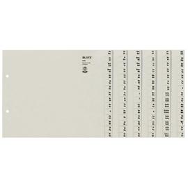Registerserie A4 halbe Höhe überbreit A-Z 240x200mm für 6 Ordner grau Papier Leitz 1306-00-85 Produktbild