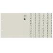 Registerserie A4 halbe Höhe überbreit A-Z 240x200mm für 8 Ordner grau Papier Leitz 1308-00-85 Produktbild