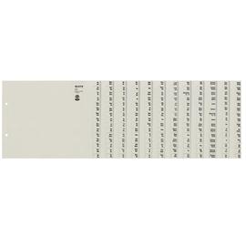 Registerserie A4 halbe Höhe überbreit A-Z 240x200mm für 12 Ordner grau Papier Leitz 1312-00-85 Produktbild