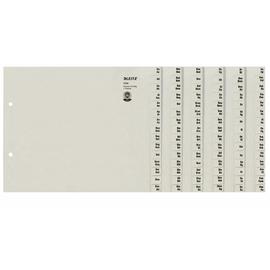Registerserie A4 halbe Höhe überbreit A-Z 240x200mm für 24 Ordner grau Papier Leitz 1324-00-85 Produktbild