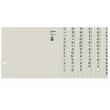 Registerserie A4 halbe Höhe überbreit A-Z 240x200mm für 36 Ordner grau Papier Leitz 1336-00-85 Produktbild