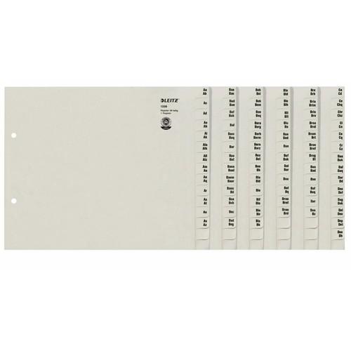 registerserie a4 halbe h he berbreit a z 240x200mm f r 36 ordner grau papier leitz 1336 00 85. Black Bedroom Furniture Sets. Home Design Ideas