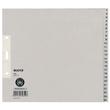 Registerserie A4 halbe Höhe überbreit 240x200mm Zahlen 1-25 grau Papier Leitz 1381-00-85 Produktbild