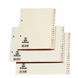 Register A-Z A4 überbreit 240x210mm chamois Papier Esselte 18496 Produktbild