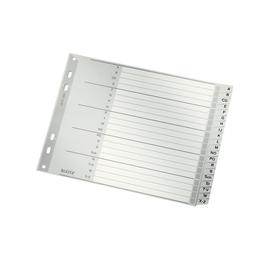 Register A-Z A4 halbe Höhe überbreit 180x238mm grau Plastik Leitz 1262-00-00 Produktbild