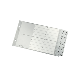 Register A-Z überbreit A5 quer 238x130mm grau Plastik Leitz 1267-00-00 Produktbild