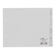 Register A-Z A4 halbe Höhe 230x180mm grau Plastik BestStandard 6500-10 Produktbild