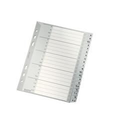 Register A-Z A5 hoch 165x210mm grau Plastik Leitz 1265-00-00 Produktbild