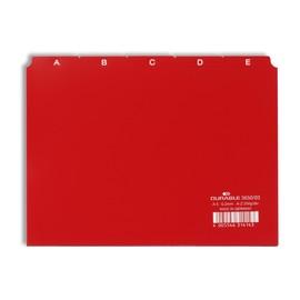 Leitregister A-Z 25-teilig A5quer rot PP Durable 3650-03 Produktbild
