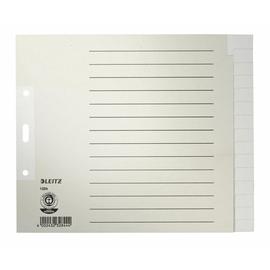 Register Blanko A4 halbe Höhe überbreit 240x200mm 15-teilig grau Papier Leitz 1224-00-85 Produktbild