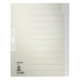 Register Blanko A4 überbreit 240x300mm 12-teilig grau Papier Leitz 1222-00-85 Produktbild