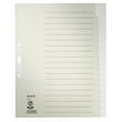 Register Blanko A4 überbreit 240x300mm 20-teilig grau Papier Leitz 1220-00-85 Produktbild