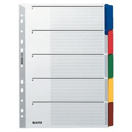 Register Blanko A4 225x297mm 5-teilig mehrfarbig Karton Leitz 4320-00-00 Produktbild