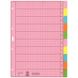 Register Blanko A4 225x297mm 10-teilig mehrfarbig Papier Leitz 4340-00-00 Produktbild